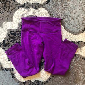 Lululemon Wunder Under Purple 4 NWOT